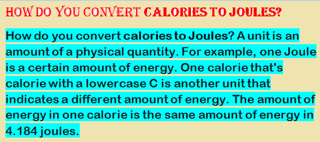 Calories to Joules-Joules to calories-Convert calories to..